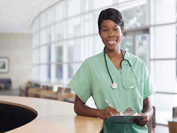 nurse with clipboard - Health care training